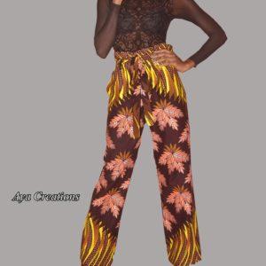 Pantalon femme taille haute