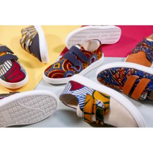 Chaussures en wax Panafrica, Bamako enfants
