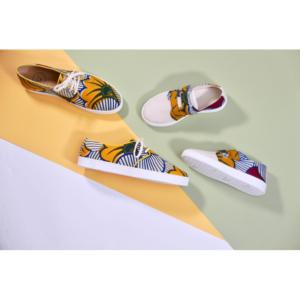 Chaussures en wax Panafrica, Praia enfants
