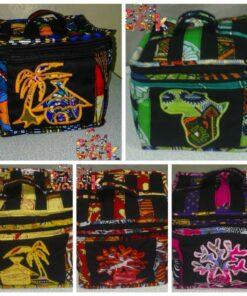 Sac de beauté en tissu africain
