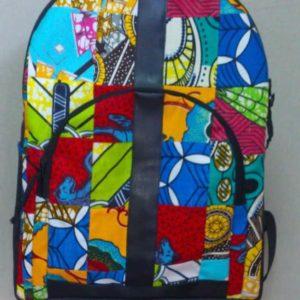 Sac à dos patchwork en tissu africain