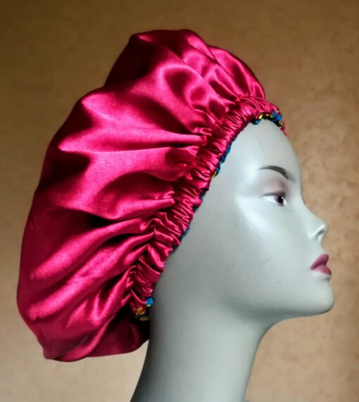 Bonnet de Satin réversible en wax
