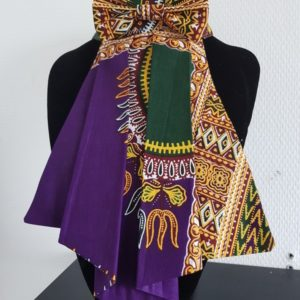 Cravate pour femme en tissu wax