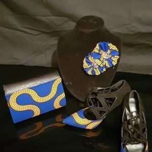 Ensemble Sac/Chaussure/broche en wax