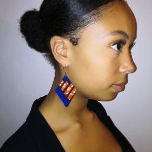 UNIQUE-Boucles d'oreilles tissu wax