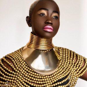 African Princess metal Set Necklace