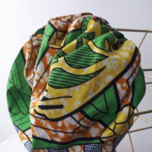 Bonnet d'intérieur tout en tissu pagne africain