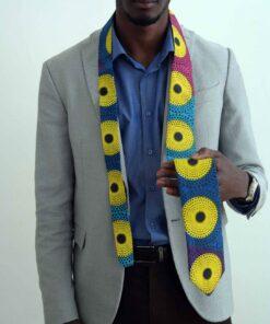 Cravate en tissu africain Kogi