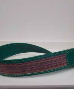 Anse de sac à main-Cuir vert fait avec du tissu