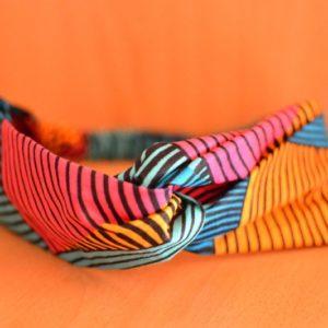 Bandeau de cire en tissu wax africain