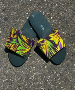 Handmade Slippers designed with wax print