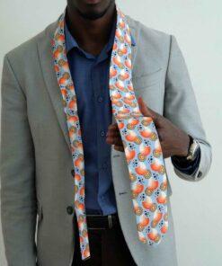 Cravate en tissu wax africain Maitama