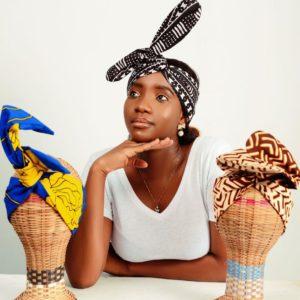 Headband maniable fait avec du tissu africain
