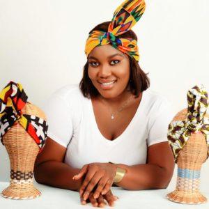 Headband maniable réalisé en pagne africain