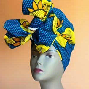 Turban Africain fait en tissu wax