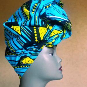 Foulard de tête en tissu wax
