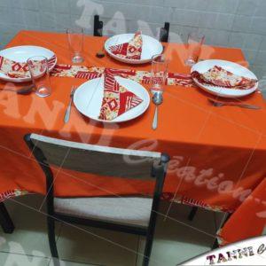 Nappe de table de 4 plus 4, serviettes de table