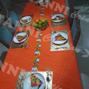 Nappe de table de 6 plus 6, serviettes de table fait avec du wax