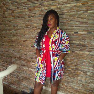 Kimono fait en tissu africain