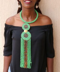 Collier Pendentif Perle Africain Bijoux Africains Africabaie Com