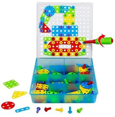Tonze Jeu De Construction Puzzle Enfant Jouet Fille Garcon 3 Ans 4 Ans 5 Ans Motricite Fine Pegboard Avec 180 Pcs Africabaie Com