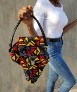 Sac Afrique en wax, sac bandoulière wax, sac à main