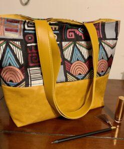 sac cabas motif ethnique