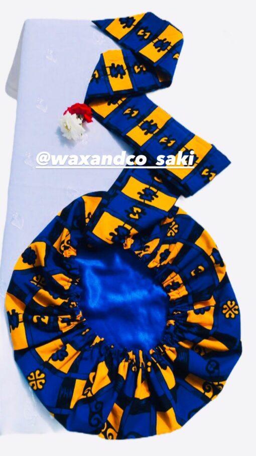 Bonnet réversible satin wax