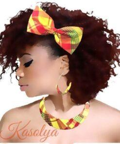 Accessoire cheveux nœud papillon, barrette tissu madras, barrettenœud