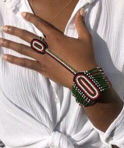Bracelet ethnique perles, bracelet coloré, bracelet en perles