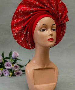 African print head wrap, African autogele print, African headwrap fabric