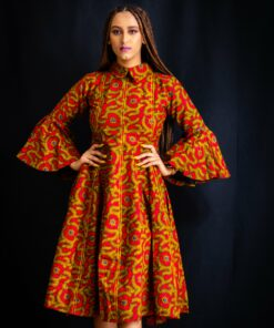 Robe motifs africain Ankara, robe motifs africain, robe ankara