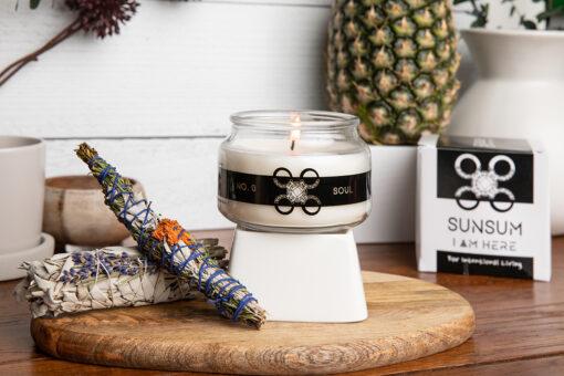 Sunsum Intention Candles, No. 0 - Soul, apothecary candle jar, 8 oz