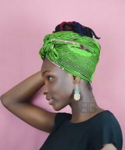 Bijoux tissus africains, boucles d'oreilles africaines, boucles en wax