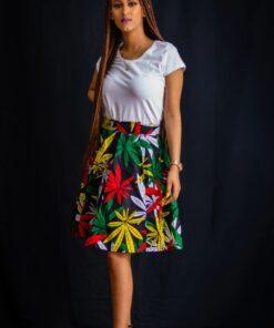Jupe courte évasée à imprimé africain Ankara, jupe courte, jupe à imprimé africain