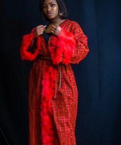 Kimono robe long imprimé africain, kimono robe, kimono imprimé africain