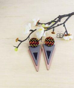 Boucles oreilles tissu africain, boucles d'oreilles Ankara, boucles pour femmes