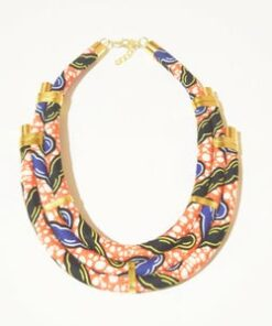 Collier wax africain, colliers tissu africain, colliers africains