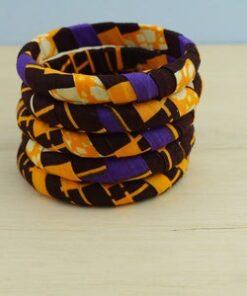 Bracelet en tissu wax, bracelets africains, bracelets wax