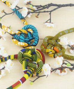 Collier en tissu africain femme, collier en tissu, collier africain