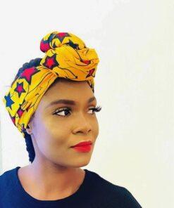 Turban wax print, african headwraps, headwraps wax