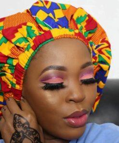 Bonnet de cheveux en wax, bonnet de nuit en wax, bonnet tissu africain