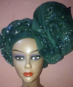 Ready-to-wear scarf women, african fabric turban, african turban women