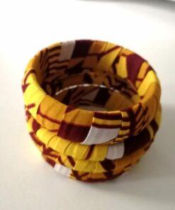 Bracelet-manchette tissu africain, bracelet manchette wax, bracelet femme