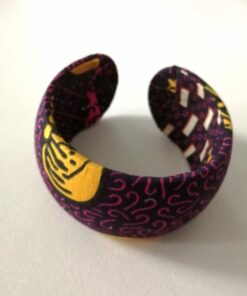 Manchettes tissu africain, bracelet tissu wax, manchette fait main