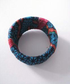 Bracelet manchette femme, manchette wax fait main, manchette colorée