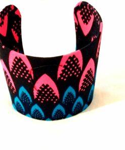 Bracelet manchette en wax, manchette femme en tissu, bracelet fait main