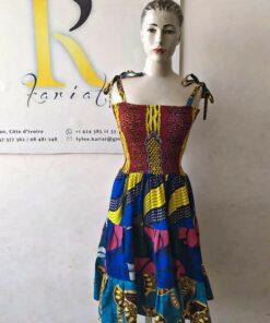 Robe patchwork courte wax, robe patchwork, robe courte