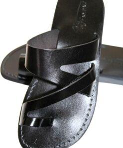 sandale en cuir