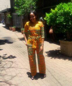 Combinaison imprimés africain Ankara ; Bahati, combinaison, combinaison africain